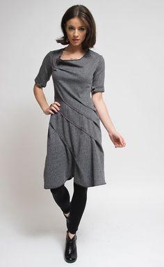 Cinderloop Herringbone Edgewise Dress