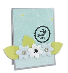 Hello - Reflections Scrapbooking Card