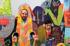 "Opening Night: Tim Biskup's ""Charge"" at Martha Otero Gallery | Hi-Fructose Magazine"