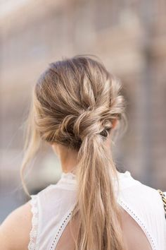 Twisted and braided pony: love! #hairstyle