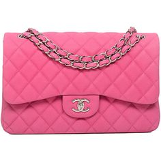 Pre-Owned Chanel Hot Pink Quilted Matte Iridescent Caviar Jumbo... (€6.135) ❤ liked on Polyvore featuring bags, handbags, chanel, accessories, pink, chanel handbags, pink quilted handbag, quilted purse, felt purse and pink quilted purse