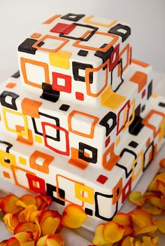 squares...just did a cake last night inspired by this design
