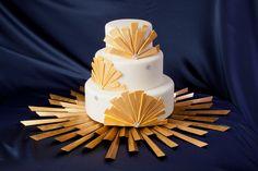 Ultra modern wedding cake! Bombon Cake Gallery   ©Edward Fox Photography