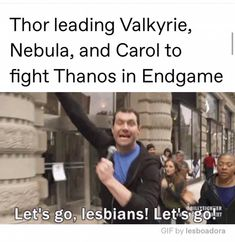 Thor leading Valkyrie, Nebula, and Carol to fight Thanos in Endgame - iFunny :) Marvel Jokes, Avengers Memes, Marvel Funny, Captain Marvel, Marvel Avengers, Marvel Comics, Avengers Cast, Dc Memes, Funny Memes
