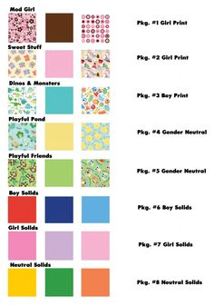 Babyville Boutique fabric choices