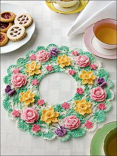 Springtime Floral Doily by Elizabeth Ann White