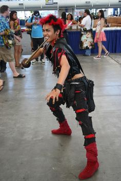 Rufio cosplay! Remember this guy? He's on of the Lost Boys from Hook with Robin Williams!