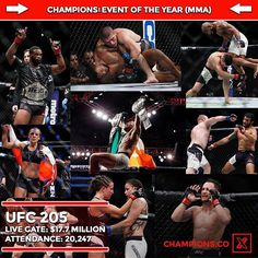 """With 2016 being over, Champions has selected their picks for """"End of the Year Awards"""" for boxing and MMA. The fourth award is """"MMA Event of the Year."""" UFC 205 was the first UFC event held in New York City. With three title fights, the event broke several UFC records such as Live Gate, Attendance, and more. With a stacked card from top to bottom it did not disappoint. What is your MMA Event of the Year? Like and comment below ⬇️ @thenotoriousmma #MMA #UFC #UFC205 #KO #mieshatate…"""