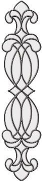 "Brewster 93812 Brewster Stained Glass ""Hanover"", 4.5-Inch by 19.5-Inch - Amazon.com $17.99"