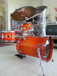 Sonic Drive 4 Piece HIP GIG Drumkit Amber Sunburst Need this for my gigs...easy to haul
