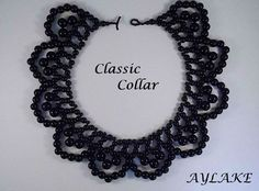 "Beaded ""Classic collar"""