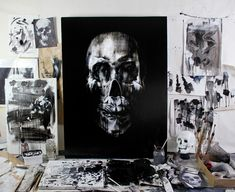 Skull Portraits by Tom French