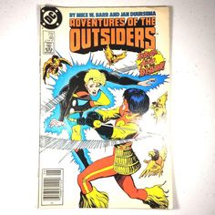 DC Comics Adventures Of The Outsiders #46 June 1987 Vintage Comic Book