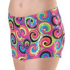 Spiral Printed Booty Dance Shorts; Balera