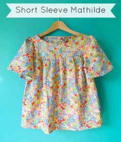Pattern Hack! Short Sleeve Mathilde blouse