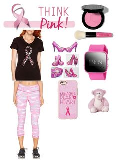 """""""Support Breast Cancer Awareness!!!"""" by kylamckay1210 ❤ liked on Polyvore featuring Bobbi Brown Cosmetics, Made For Life, Casetify, Vimmia, women's clothing, women, female, woman, misses and juniors"""