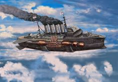 British D-class Type 1 Destroyer_Preview #steampunk #steampunkart #airships http://www.pinterest.com/TheHitman14/art-steampunk-%2B/