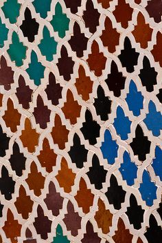 tiles in Medersa Bou Inania - Fes, Morocco by Phil Marion, via Flickr  http://www.flickr.com/photos/phil_marion/5371503643/in/photostream/#