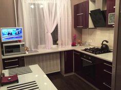 Дизайн кухни в хрущевке: полезные советы для тех у кого маленькая кухня Kitchen Cabinets, Kitchen Appliances, Mobile Home, Perfect Place, Kitchen Design, Sweet Home, New Homes, House Design, Home Decor