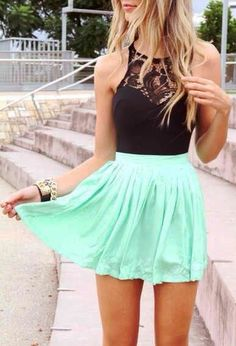 summer outfits.. Mint, my new favorite summer color.