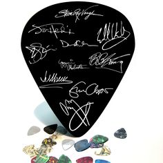 10 Best Guitarists Signature Giant Guitar Pick Wall Art - 1058-For Mik