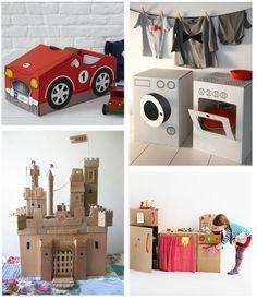 Un mundo de imaginación en una caja de cartón