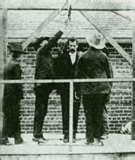 The hanging of Tom Ketchum on April 26, 1901 in Clayton, New Mexico  (oops, they ended up decapitating him when they hung him)
