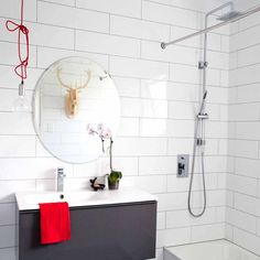 Crown Tiles online shop stocks large ranges of tiles. Tiles for walls, floors, whole rooms, bathrooms, kitchens and more. White Tile Shower, White Tiles, Wall And Floor Tiles, Wall Tiles, Tiles Online, Shower Surround, Rustic White, Bathroom Wall, Flooring