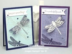 Glittery Dragonfly Dreams Card - Stampin' Up!