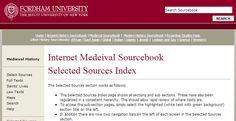 Internet Medieval Sourcebook, http://www.fordham.edu/halsall/sbook1.asp