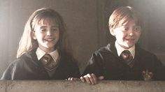 Ron and Hermione at the end of Year One