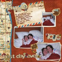 Hotel Stay Digital Scrapbooking Layout by Theresa Kavouras