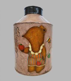 Vintage Tea Caddy,Great Britain 1900s Tea Caddy, Vintage Tea, Somerset, Urn, Great Britain, Hand Painted, Antiques, Painting, Decor