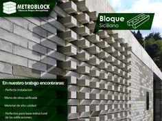 Bloque fachada de cemento siciliano, material perfecto para #decoration