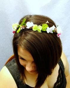 Orchid and Hydrangea Flower Crown Spring Flower by RuthNoreDesigns, $30.00