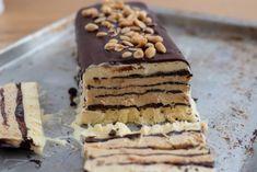 Peanut Butter Desserts, Creamy Peanut Butter, No Bake Desserts, Delicious Desserts, Dessert Recipes, Icebox Cake, Cooking Panda, Ice Cream Treats, How To Make Cake