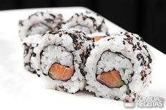 Receita de Uramaki de salmão skin em receitas de peixes, veja essa e outras receitas aqui!