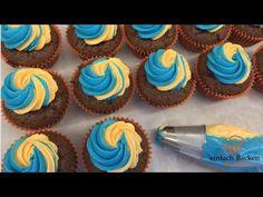 Buttercreme für Cupcakes zweifarbig dekorieren - einfachbacken.ch