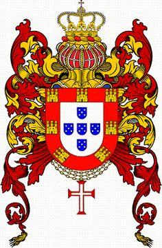 A CAUSA REAL NO DISTRITO DE AVEIRO Portuguese Empire, Portuguese Language, Portuguese Tattoo, Porto City, Banner, Coat Of Arms, Sleeve Tattoos, Cartoon, History