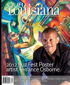 2012 Jazz Fest artist, Terrance Osborne  Osborne does incredible original New Orleans artwork.