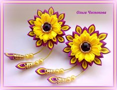 image (1680×1287) Wonderful Flowers, Ribbon Work, Flower Crafts, Baby Headbands, Hair Pieces, Hair Bows, Flower Arrangements, Hair Accessories, Handmade