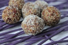 Cranberry, Fig & Seed Bliss Balls - one of our pre-packaged make-at-home mixes.  So convenient and packed full of goodness!  www.adventuresnacks.com.au #healthysnack #blissballs #healthytoddlersnack #glutenfree #nutfree #nutfreeblissballs #vegan