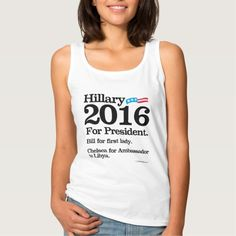 Bill for First Lady - Chelsea for Ambassador Basic Tank Top Tank Tops