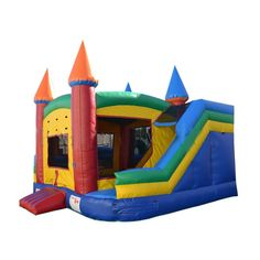 Commercial 360 Bounce House, Obstacle Course and Slide Combo #sale #inflatables #bouncehouse