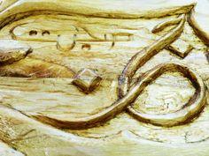 Persischer Vers von Rumi in Holz geschnitzt (60x20cm) von IbnRoman auf Etsy