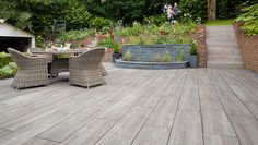Wanting to keep a natural feel throughout your outdoor space? Our SYMPHONY Vitrified Plank Paving will help create a patio you& fall in love with time and time again. Deck Alternatives, Landscape Design, Garden Design, Garden Paving, Garden Inspiration, Garden Ideas, Patio Ideas, Low Maintenance Garden, Natural Garden
