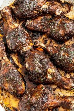 Easy Jamaican Jerk Chicken Recipe - Chew Out LoudYou can find Jamaican recipes and more on our website.Easy Jamaican Jerk Chicken Recipe - Chew Out Loud Baked Jerk Chicken, Jerk Chicken Wings, Canned Chicken, Easy Jerk Chicken Recipe, Jerk Chicken Marinade, Roast Chicken, Jerk Chicken Recipe Grill, Good Chicken Recipes, Slow Cooker Jerk Chicken