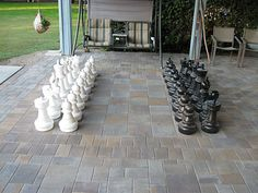 Paver Chess Board And Patio