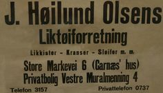 En gammel reklame plakat fra Bergen her med egen privatbolig adresse. Fotomuseum