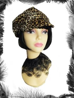 f0f023f34ea1e Leopard Print 1960s Mod Hat in 3 colours